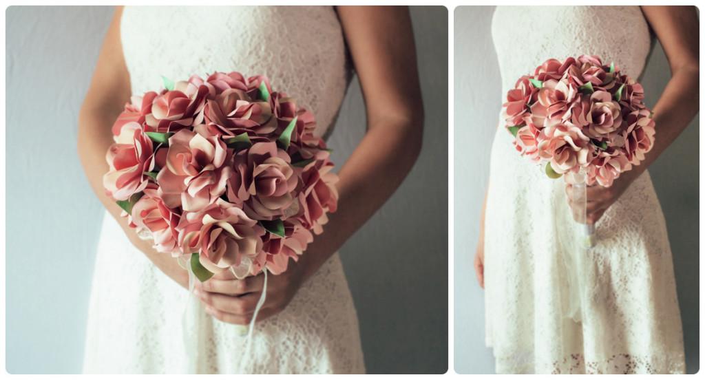 Bouquet Rose Carta